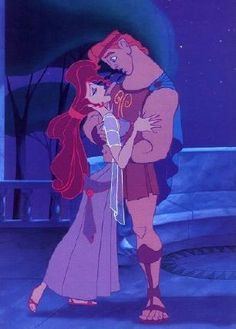 Hercules: Oop, careful.  Megara: Sorry. Weak ankles.  Hercules: Oh yeah? Well, maybe you better sit down for a while.     Just because, you know... I'm her. :)