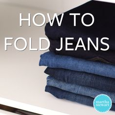 Hanging jeans takes up a good amount of space in your closet. Learn the easiest way to fold and stack your jeans to keep your closet shelves or drawers neat and