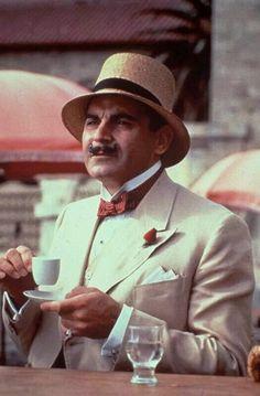 z- David Suchet (Dame Agatha Christie's Hercule Poirot)- Drinking Expresso