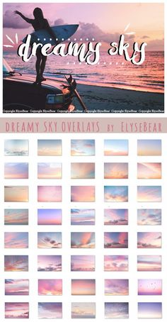 40 Dreamy Sky Photoshop Overlays JPG. Photoshop Plugins. $7.00