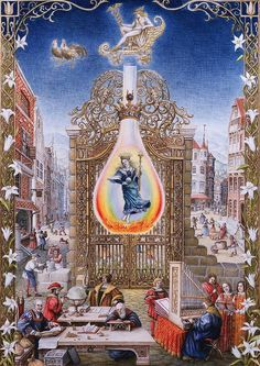 Laurie Lipton, The Fourth Treatise, Mercury, color pencil on paper