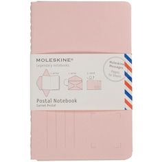 Moleskine Moleskine Messages Postal Notebook, Pocket, Plain, Peach... (350 RUB) ❤ liked on Polyvore featuring home, home decor, stationery, fillers, accessories, item and notebooks