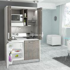 cucine a scomparsa | Cucine a scomparsa | Mini Cucine moderne per piccoli spazi Micro Kitchen, Hidden Kitchen, Compact Kitchen, Small Apartments, Small Spaces, Kitchen Dinning, Kitchen Stove, Studio Kitchen, Cuisines Design