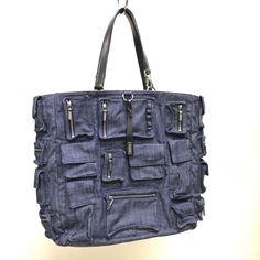 Jil Sander 2002 MULTI POCKET DENIM TOTE Size ONE SIZE