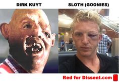 Dirk Kuyt/Sloth from the Goonies' horrible injury