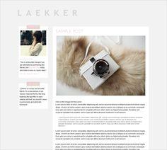 Blog design/layout.