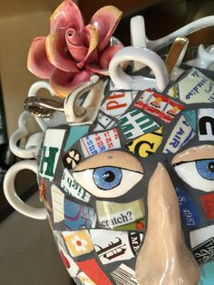 Head up close mosaic