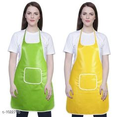 Aprons Classic Aprons ( Pack Of 2)  *Material * Apron - PVC  *Size (L x W)* Apron - 18  in x 28 in  *Description* It Has 2 Piece Of Kitchen Apron  *Pattern* Solid  *Sizes Available* Free Size *   Catalog Rating: ★4.2 (287)  Catalog Name: Hiba Lovely Aprons Combo Vol 1 CatalogID_123448 C129-SC1633 Code: 142-1022770-