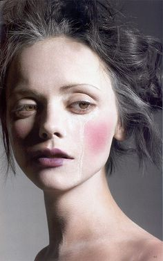Christina Ricci - pinning pics of celebrities who are made over NOT to look like their usual selves. Lovely!