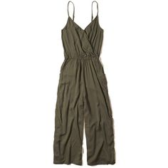 0a47292dcd7 Hollister Wrap Front Culotte Jumpsuit ( 50) ❤ liked on Polyvore featuring  jumpsuits