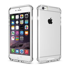For iPhone 6 6S 7 Plus 5.5 Armor Case Hybrid TPU Frame Clear Crystal Cover Air Cushion Phone Cases For Apple iPhone 6 6S 7 4.7