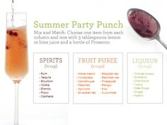 summer party punch, from Martha