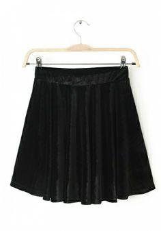 Black Elastic Waist Plain BOTTOMS
