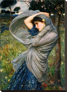 Boreas by J.W. Waterhouse - this painting just stood out to me while I was scrolling. I like her pose