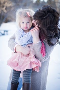 mother daughter photos session #winter #photography