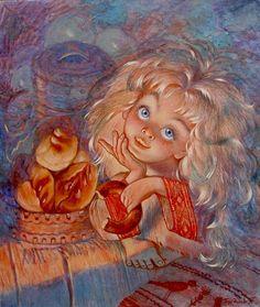 """""""домовенок с пирожками"""", автор Татьяна Бурдина. Артклуб Gallerix"""