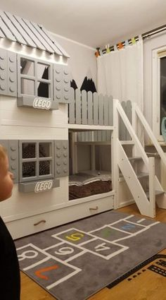 Luxury Home Decoration Ideas House Beds For Kids, Kid Beds, Bunk Beds, Toddler Bed With Slide, Bunk Bed With Slide, Bedroom Sets, Kids Bedroom, Pirate Bedroom, Master Bedrooms