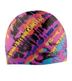 Speedo Electro Stripe Silicone Swim Cap #swimoutlet