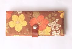Wallet with Japanese floral pattern by MESIMU on Etsy, $24.00