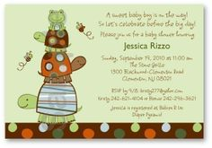 Laguna Turtle Frog Custom Baby Shower Invitation Print Your Own. $12.00, via Etsy.