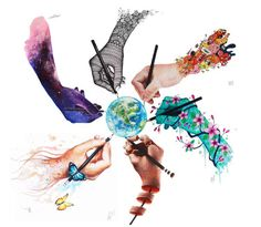 Image of World Collaboration Limited edition Art Print (6 artists collaboration)
