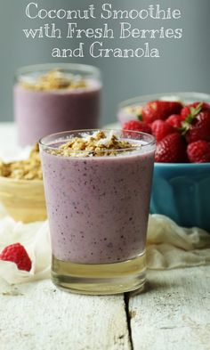 We have @ChefBillyParisi to thank for this Coconut Smoothie with Fresh Berries and Granola. It's super easy to whip up and loaded with nutritious goodness!