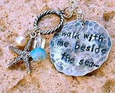 For Ocean lovers everywhere!  Stamped sterling silver necklace from Stamped...by Michele  www.etsy.com/shop/stampedbymichele