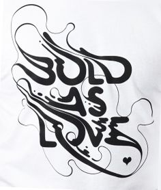 Bold as Love T-shirt  origin68.com/product/bold-as-love