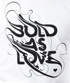Bold as Love T-shirt  origin68.com/product/bold-as-love