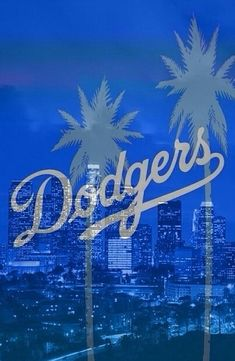 Dodger Stadium with the city of Los Angeles in the