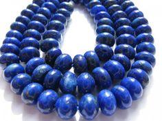 Small Rondelle/Abacus Natural Lapis-Lazuli Stone Bead 5x8mm 70pcs GEM | jewelryshop - Jewelry Supplies on ArtFire