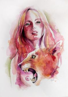 Watercolour on rough paper 36 x 48 / Artist Ame Soler