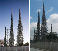 Strange Skyscrapers: Simon Rodia Towers, Los Angeles #architecture
