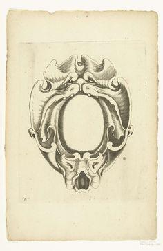 6a5984734 Jacob Lutma | Cartouche met een groot monsterhoofd, Jacob Lutma, Johannes  Lutma (I