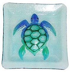 Fancy That 10 Square Sea Turtle Plate