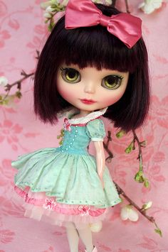 For Chrissy ≈ Snow White ≈ Blythe clothes for dolls : tutorial : Kikihalb ♧ Forest~Tales ♧
