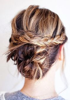 Bun and braid. Definitely gonna try this!