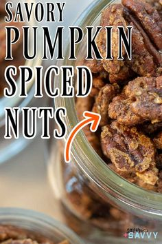 These pumpkin pie spiced nuts taste are the perfect fall snack when out and about. They are coated with just a little sugary coating for just enough pumpkin pie taste in each bite. #pumpkinpienuts #pumpkinpiespicednuts #savorynuts Easy Drink Recipes, Pecan Recipes, Pumpkin Recipes, Fall Recipes, Snack Recipes, Dessert Recipes, Roast Pumpkin, Baked Pumpkin, Pumpkin Pie Spice