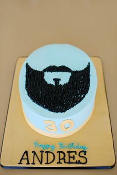 Beard Cake! This matched the invitation perfectly. | Cake by Wow Factor Cakes, photo by The Beautiful Mess. #Charlotte #CLT #Dilworth