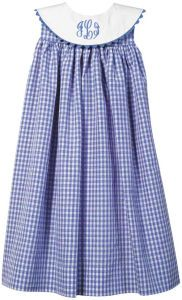 Monogrammed Girl's Dresses: Blue and White Double Plaid Large Collared Dress ... http://www.orientexpressed.com/736431/products/Blue-and-White-Double-Plaid-Large-Collared-Dress.html