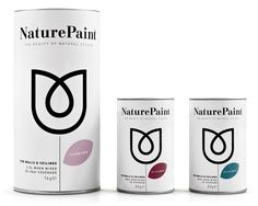 Packaging design by B Studio for earth-friendly powdered wall paint Naturepaint.