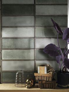 Iris Diesel Living Industrial Glass Green Ceramic