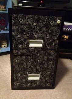 Metal file cabinet makeover using Mod Podge | DIY Makeovers ...