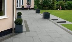 Trust Marshalls and discover beautiful granite garden paving for your path or patio project - Get inspiration and find your local stockist here Garden Slabs, Patio Slabs, Garden Paving, Garden Landscaping, Back Garden Design, Patio Design, Back Gardens, Outdoor Gardens, Granite Paving