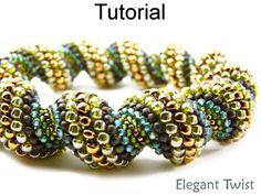 Cellini Spiral Tubular Peyote PDF Beading Pattern | Simple Bead Patterns
