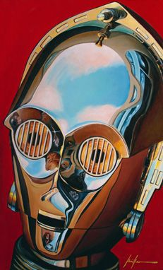 Atlanta artist Christian Waggoner has created fine-art Star Wars paintings showing extreme close-ups of characters and the reflections in their helmets.