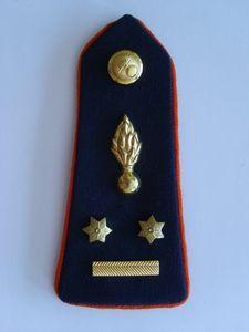 Épaulette de chemise grade de Lieutenant-Colonel.