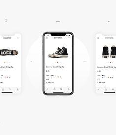 Converse | ui/ux design on behance. App Ui Design, Interface Design, Web Design, Mobile Application Design, Mobile Ui Design, Mobile Shop, Mobile App Ui, Ecommerce App, Screen Design