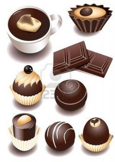 Risultato della ricerca immagini di Google per http://us.123rf.com/400wm/400/400/alegria111/alegria1110802/alegria111080200049/2561533-dolci-al-cioccolato-illustrazione-vettoriale-incluso-eps.jpg
