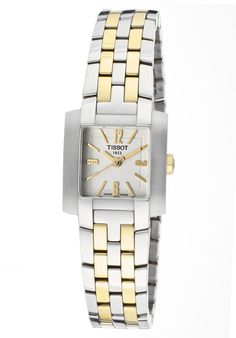 Price:$389.00 #watches Tissot T60228232, This chic Tissot never goes out of style. With its trendy stainless steel and modern design, this timepiece will always make a scene where ever you go.